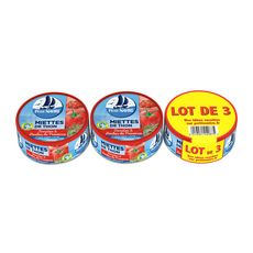 PETIT NAVIRE Miette de thon tomates et herbes de provence 3x160g