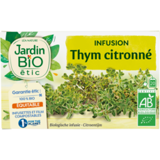 JARDIN BIO ETIC Infusion thym citronné  20 sachets 30g