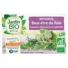 JARDIN BIO ETIC Infusion bien-être du foie romarin thym citron et pissenlit 20 sachets 30g