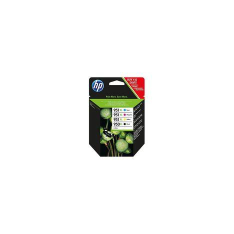 HP Pack de 4 Cartouches HP 950/951 d'Encre Noir, Cyan, Magenta et Jaune Authentiques (6ZC65AE)