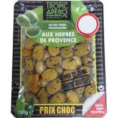 TROPIC APERO Olives vertes dénoyautées aux herbes de Provence 180g