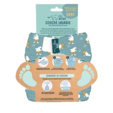 FEEL NATURAL Couche lavable et réutilisable de la naissance à la propreté 1 couche