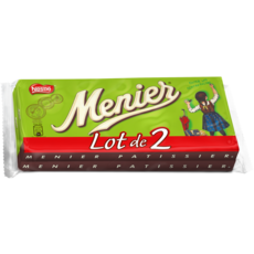 MENIER Tablette de chocolat noir 2x200g