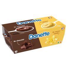 DANETTE Crème dessert vanille chocolat 16x115g
