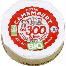 LES 300 & BIO Notre Camembert au lait entier bio   250g