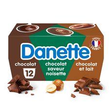 DANETTE Crème dessert aux 3 chocolats 12x125g