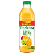 TROPICANA Jus pure premium 100% réveil fruité 4 fruits 1,5l