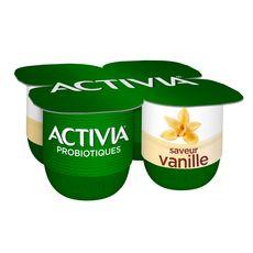 ACTIVIA Yaourt bifidus vanille 4x125g