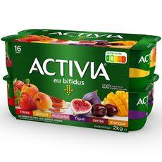 ACTIVIA Yaourts aux fruits bifidus 16x125g