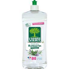 L'ARBRE VERT Liquide vaisselle et mains Ecolabel romarin 750ml