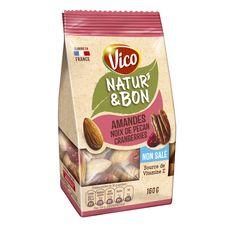 VICO Natur'&Bon mélange amandes noix de pécan cranberries non salé 160g