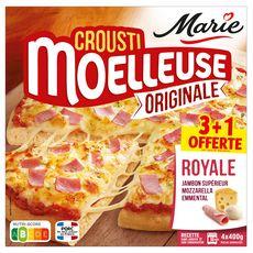 MARIE Pizza crousti moelleuse originale royale 4 pièces 4x400g