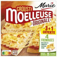 MARIE Pizza crouti moelleuse originale 4 fromages 4x390g 4 pièces