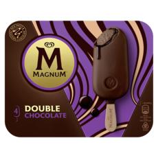 MAGNUM Bâtonnet glacé double chocolat 4 pièces 276g