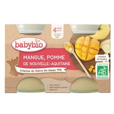 BABYBIO Petit pot dessert pomme mangue dès 4 mois 2x130g