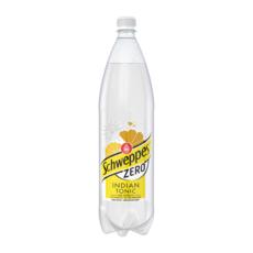 SCHWEPPES Boisson gazeuse zéro indian tonic au quinquina 1,5l