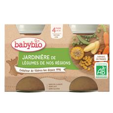 BABYBIO Petit pot jardinière de légumes bio dès 4 mois 2x130g