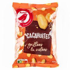 AUCHAN Cacahuètes grillées et salées 500g