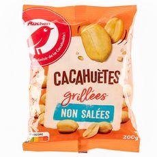 AUCHAN Cacahuètes grillées sans sel ajouté 200g