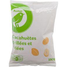 AUCHAN ESSENTIEL Cacahuètes grillées et salées 150g