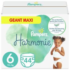 PAMPERS Harmonie couche taille 6 (+13kg) 44 couches