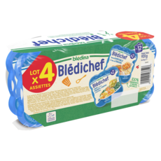 BLEDINA Blédichef assiettes légumes poissons dès 12 mois 4x230g
