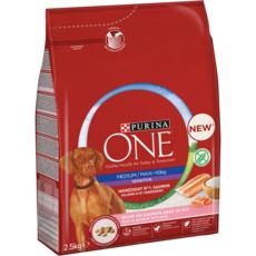 PURINA ONE Croquettes pour chiens sensitive médium saumon 2,5kg 2,5kg
