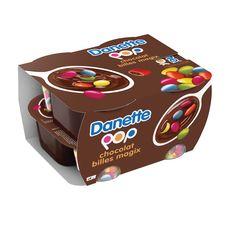 DANETTE POP Crème dessert chocolat billes Magix chocolat 4x120g