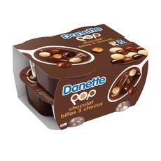 DANETTE POP Crème dessert chocolat billes 3 chocolats 4x117g