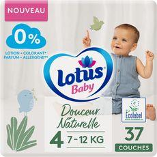 LOTUS BABY Couches douceur naturelle taille 4 (7à12kg) 32 couches
