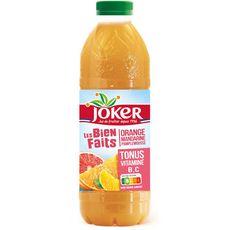 JOKER Les biens faits jus d'orange mandarine pamplemousse tonus vitaminé B C 90cl