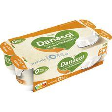 DANACOL Yaourt nature 0% mg 8x125g 8x125g