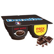 DANETTE Crème dessert au chocolat noir extra 4x125g
