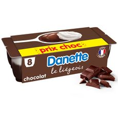 DANETTE Liégeois chocolat 8x100g