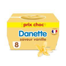 DANETTE Crème dessert vanille 8x125g