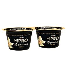 HIPRO Yaourt vanille protéiné 0% mg 2x160g