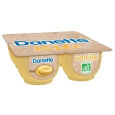 Danone DANETTE Crème dessert bio à la vanille