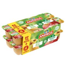 ANDROS Dessert de fruits pomme et pomme poire dont 4 offerts 16x100g