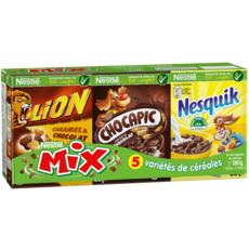 NESTLE Mix assortiment de mini boites de céréales Lion-Chocapic-Nesquik 6 boites 190g