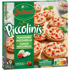 BUITONI Mini pizza à la tomate et mozzarella 9 pièces 270g