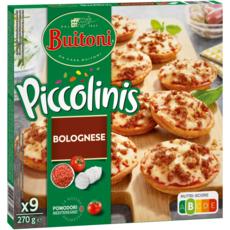 BUITONI Piccolinis mini pizza à la bolognaise 9 pièces 270g
