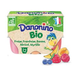 DANONINO bio Petits suisses aux fruits 12x50g