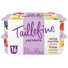 TAILLEFINE Yaourt 0% MG aux fruits 16x125g