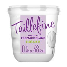TAILLEFINE Fromage blanc 0% MG nature 850g