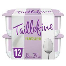 TAILLEFINE Yaourt 0% MG nature 12x125g