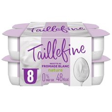 TAILLEFINE Fromage blanc 0% MG  nature 8x100g
