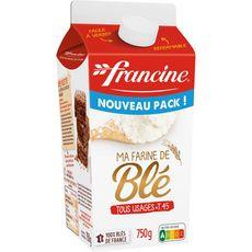 FRANCINE Ma farine de blé tous usages T45 750g