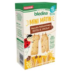 Blédina BLEDINA Mini matin biscuits multicéréales pépites de chocolat dès 15 mois