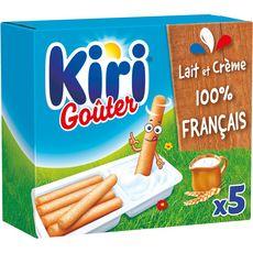 KIRI Goûter Fromage fondu à la crème et gressins 5 portions 175g