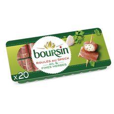 Boursin BOURSIN Apéritif Roulés de jambon fumé ail et fines herbes